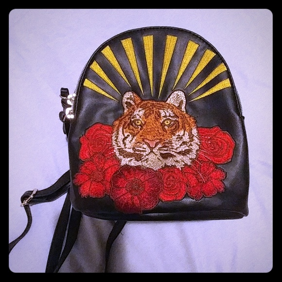 Wild Fable Bags Target Tiger Rose Mini Backpack Black Poshmark